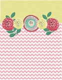 Yellow/Pink Chevron Binder Cover