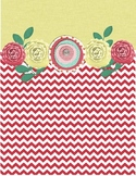 Yellow/Red Chevron Binder Cover
