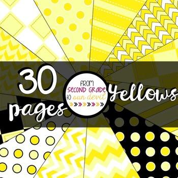 Yellows Digital Paper