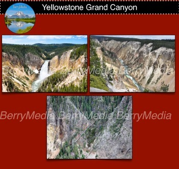 Yellowstone Grand Canyon and waterfall Images