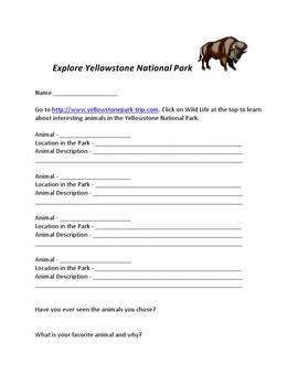 Yellowstone National Park Webquest
