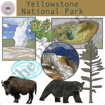 Yellowstone National Park Clip Art Set