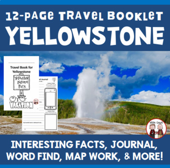 Yellowstone National Park Vacation Travel Booklet