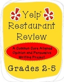 """""""Yelp"""" Common Core Opinion Writing Project"""