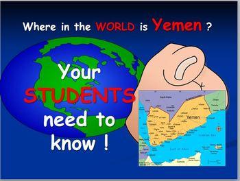 Yemen and Arabian Peninsula Map and Internet Activities by sherry hallam