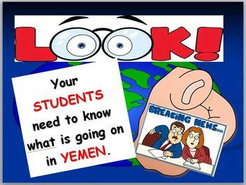 Yemen and Arabian Peninsula Map and Internet Activities