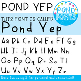 Font - 'Yep' Font - For Commercial, Personal and Classroom Use