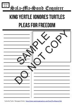 Yertle the Turtle - News - 8 Writing Tasks and Editable Digital File