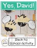 Yes David!   A No, David! Craft for Back to School   Presc