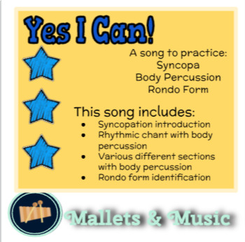 Yes I Can: A Chant to Practice Syncopa
