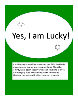 Yes, I am Lucky! Poetry and Art Activity
