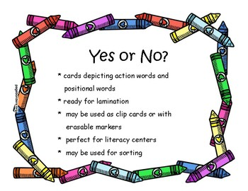 Yes/No Action and Position Words