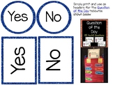 Yes No Cards for Question of the Day
