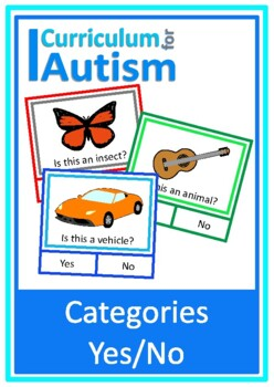 Vocabulary Categories Yes No, Autism, Special Education, Speech Therapy, ESL