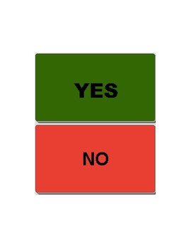 Yes/No Communication Board