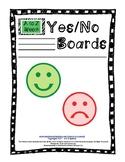 Yes/No Communication Visual Boards - Boardmaker