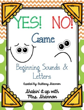 Yes! No! Game: Beginning Sounds/Letters