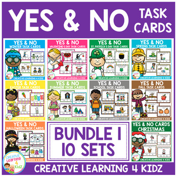 Yes & No Picture Question Task Card Bundle