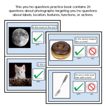 Yes/No Question Practice Book