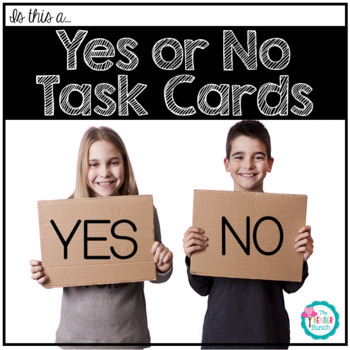 Yes/No Question Task Cards {Is this a...}