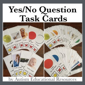 Yes/No Question Task Cards & Assessment