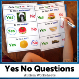 Yes No Questions for Speech Therapy, Autism #speddeals