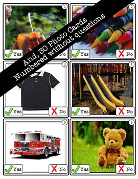 Yes - No Questions (Level 1) Photo Flashcards - Early Language