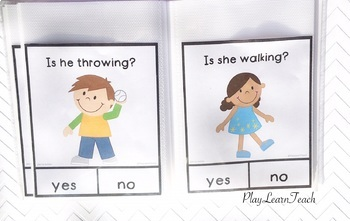 Yes No Questions Action Verbs - Autism, Special Education, Speech Therapy
