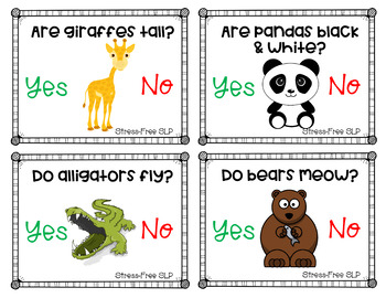 Yes No Questions- Animals