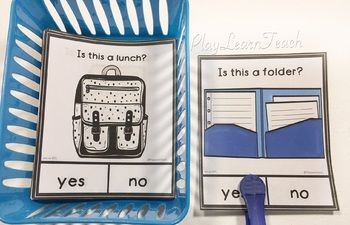 Yes No Questions Back to School - Autism, Special Education, Speech Therapy