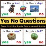Yes No Questions BOOM CARDS™ Speech Therapy