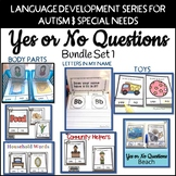 Yes No Questions Bundle 1 Autism SpEd  #warmupwithsped3