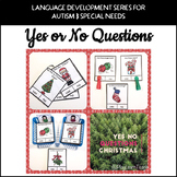 Yes No Questions Christmas for Autism Special Education Sp