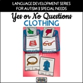 Yes No Questions Clothing for Autism Special Education