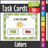Yes No Questions Colors Task Cards SCOOT