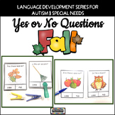 Yes No Questions Fall Autumn - Autism Back to School Activities