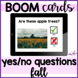 Yes No Questions: Fall: Boom Cards