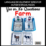 Yes No Questions Farm for Autism Special Education Speech Therapy