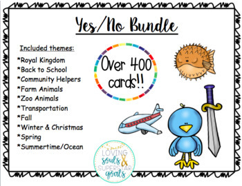 Yes/No Questions: GROWING BUNDLE Task Cards