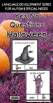 Yes No Questions Halloween - Autism, Special Education, Speech Therapy