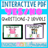 Yes/No Questions Interactive PDF Digital Activity-Distance