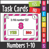 Yes No Questions Numbers 1-10 Task Cards SCOOT