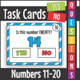 Yes No Questions Numbers 11-20 Task Cards SCOOT