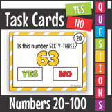 Yes No Questions Numbers 20-100 Task Cards SCOOT