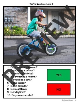 Yes No Questions (REAL PICTURES)