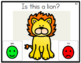 Yes/No Questions: Zoo Animal Theme Task Cards
