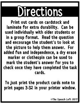 Yes/No Questions | Task Cards | Language Activity