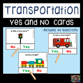 Transportation Yes No Questions for Speech Therapy