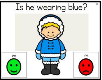Yes/No Questions: Winter Theme Task Cards