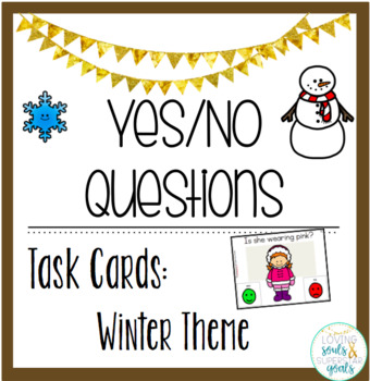 Yes/No Questions: Winter Theme Task Cards #spedtrickortreat1